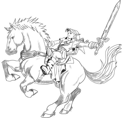 Free coloring and drawings Zelda on The Magic Horse Coloring page