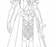 Free coloring and drawings Zelda Twilight Princess Coloring page