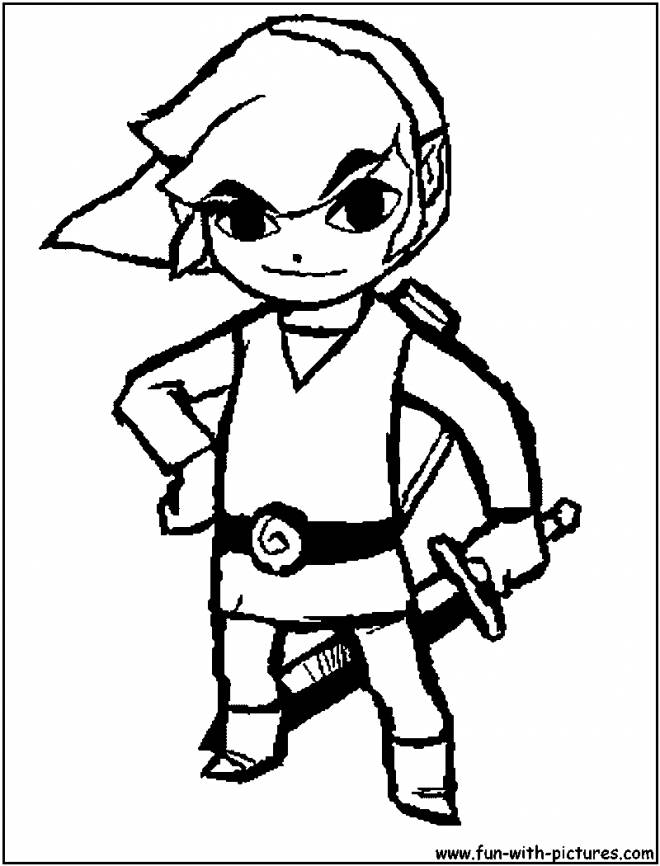 Free coloring and drawings Zelda Video game Coloring page