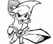 Coloring pages Zelda Wind Waker