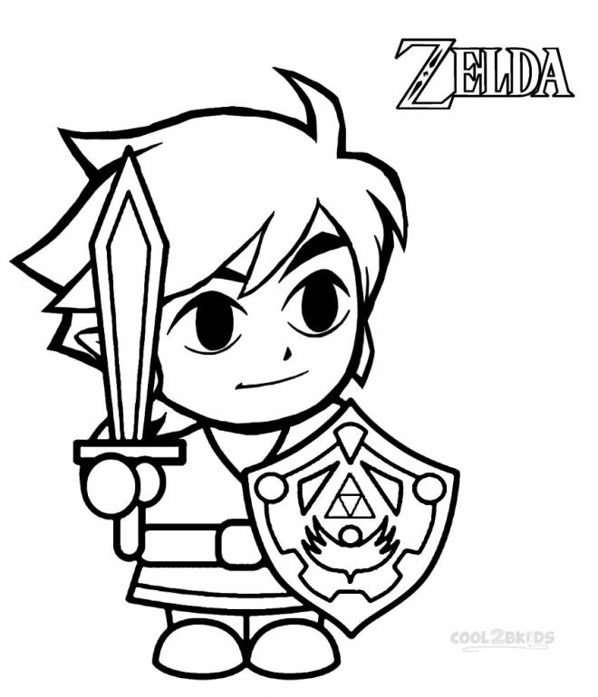 Free coloring and drawings Zelda Wind Waker for Boys Coloring page