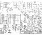 Coloring pages Adult French Garden