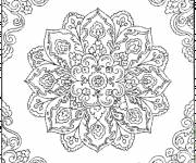 Coloring pages Adult Flowers for decoration