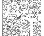 Coloring pages Artistic owl