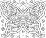 Coloring pages Flowery Adult Butterfly