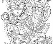 Coloring pages Psychedelic Faces