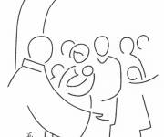 Coloring pages Baptism in the Church