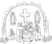 Coloring pages Catholic baptism