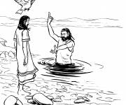 Coloring pages Christian baptism