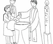 Coloring pages Maternal baptism