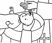 Coloring pages Baptism