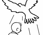 Coloring pages Simple baptism