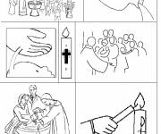 Coloring pages The ritual of a baptism