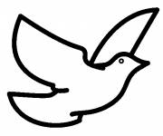 Coloring pages Vector pigeon