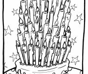 Coloring pages Birthday Candles