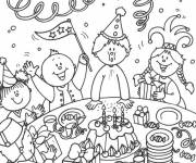 Coloring pages Birthday Joy