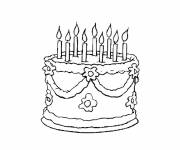 Coloring pages Color Birthday Cake