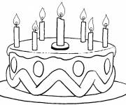 Coloring pages Easy birthday cake