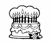 Coloring pages Maternal Birthday Cake