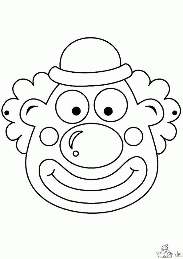 Free coloring and drawings A funny circus clown Coloring page
