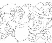 Coloring pages Black and white carnival