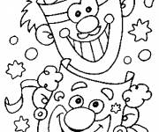 Coloring pages Carnival and The Comic Clowns