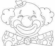 Coloring pages Carnival clown
