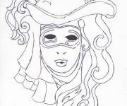 Coloring pages Carnival in pencil