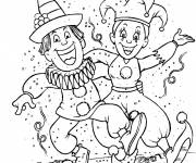 Coloring pages Carnival in winter