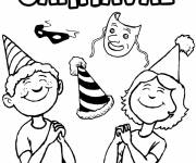 Coloring pages Color carnival