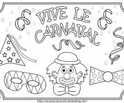 Coloring pages Long live Carnival