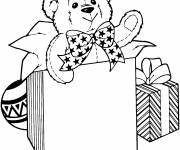 Free coloring and drawings A bear for Christmas Coloring page