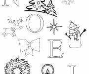 Free coloring and drawings Christmas card Coloring page