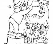 Free coloring and drawings Christmas show Coloring page