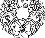 Free coloring and drawings Christmas wreath online Coloring page