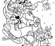 Free coloring and drawings Mickey baby in Christmas Coloring page