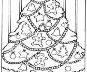 Free coloring and drawings The tree has balls Coloring page