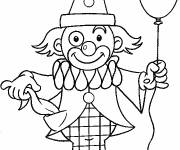 Coloring pages A balloon in the clown's hand