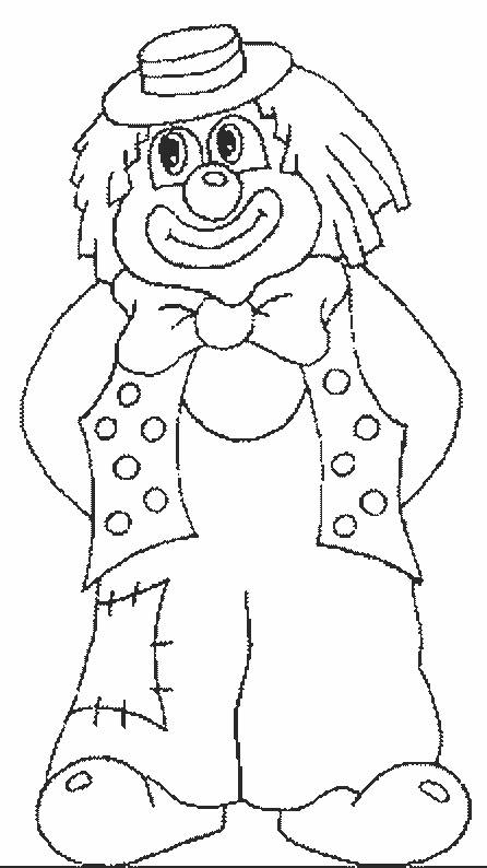 Free coloring and drawings A circus clown Coloring page