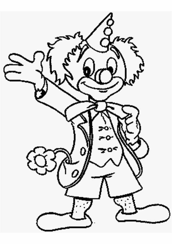 Free coloring and drawings A clown greets Coloring page