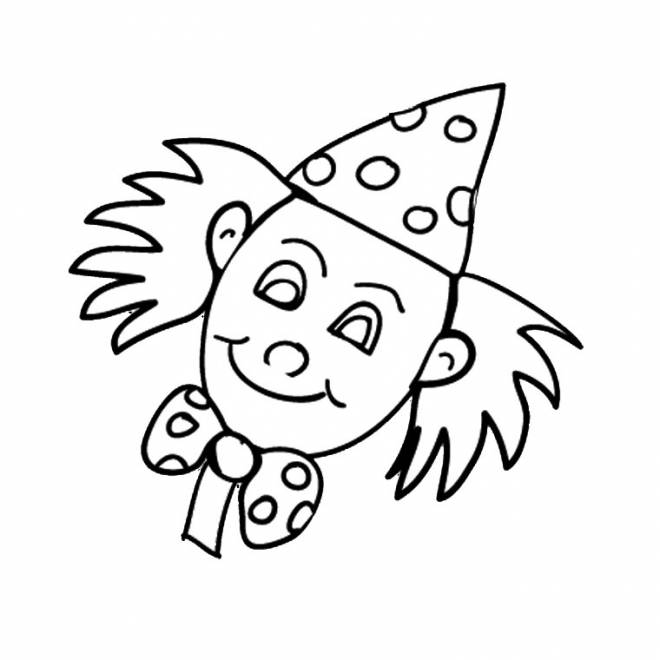 Free coloring and drawings A clown head Coloring page