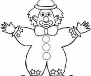 Coloring pages A clown opens his arms