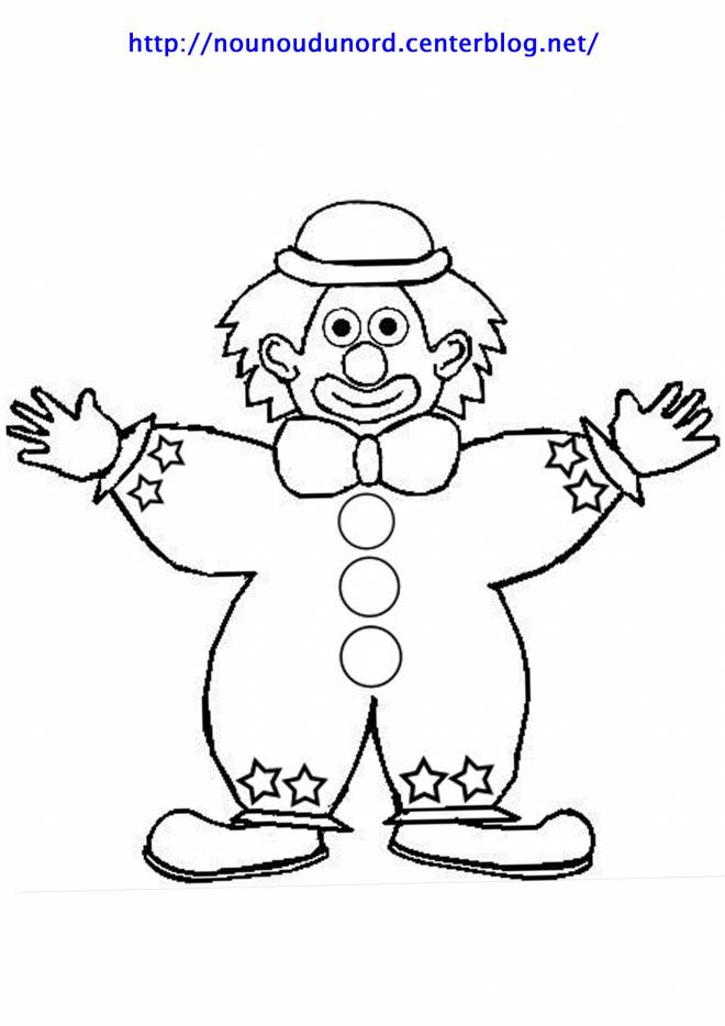 Free coloring and drawings A clown opens his arms Coloring page