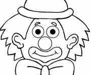 Coloring pages A clown wears a knot