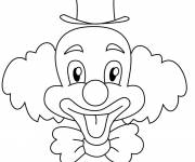 Free coloring and drawings A funny clown Coloring page