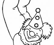 Free coloring and drawings Acrobat clown Coloring page