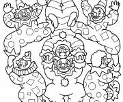Free coloring and drawings acrobat clowns Coloring page