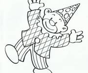 Free coloring and drawings Clown smiles Coloring page