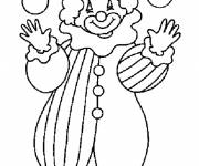Free coloring and drawings Easy clown Coloring page