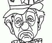 Free coloring and drawings Sad Clown Coloring page